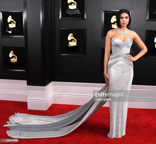 Dua Lipa arrives at the 61st Annual GRAMMY Awards at Staples Center on February 10 2019 in Los Angeles California