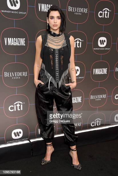 Dua Lipa arrives at the Warner Music Group Pre-Grammy Celebration at Nomad Hotel Los Angeles on February 7, 2019 in Los Angeles, California.