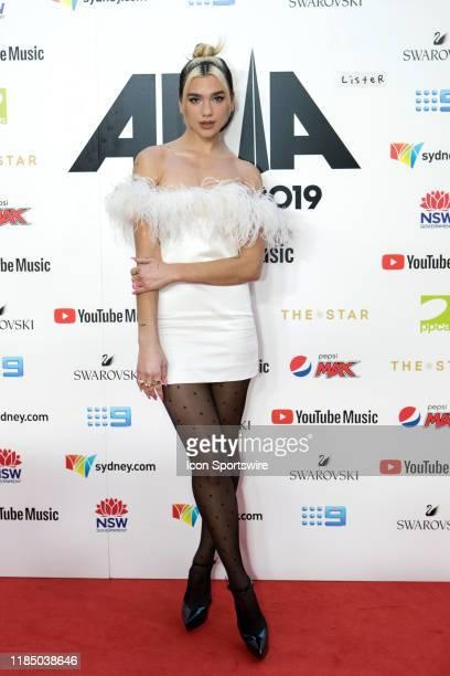 Dua Lipa arrives for the 33rd Annual ARIA Awards 2019 at The Star on November 27 2019 in Sydney Australia