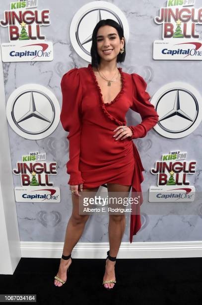 Dua Lipa attends 1027 KIIS FM's Jingle Ball 2018 Presented by Capital One at The Forum on November 30 2018 in Inglewood California