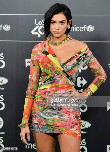 Dua Lipa attends during 'LOS40 Music Awards' 2018 at WiZink Center on November 2 2018 in Madrid Spain