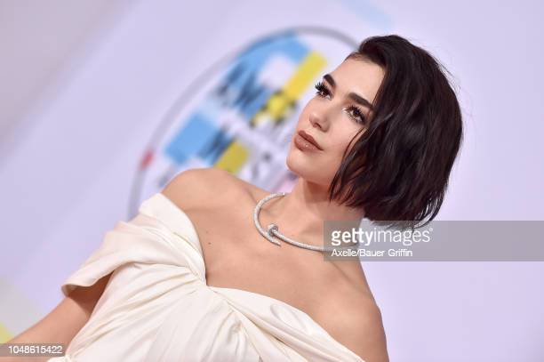 Dua Lipa attends the 2018 American Music Awards at Microsoft Theater on October 9 2018 in Los Angeles California