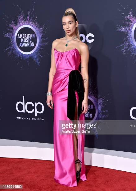 Dua Lipa attends the 2019 American Music Awards at Microsoft Theater on November 24 2019 in Los Angeles California