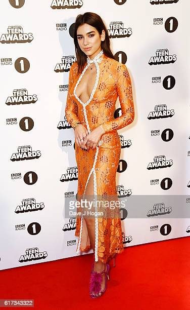 Dua Lipa attends the BBC Radio 1's Teen Awards at SSE Arena Wembley on October 23 2016 in London England