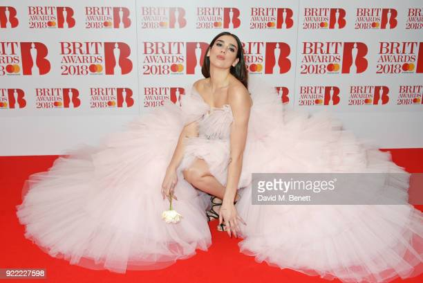 AWARDS 2018 *** Dua Lipa attends The BRIT Awards 2018 held at The O2 Arena on February 21 2018 in London England