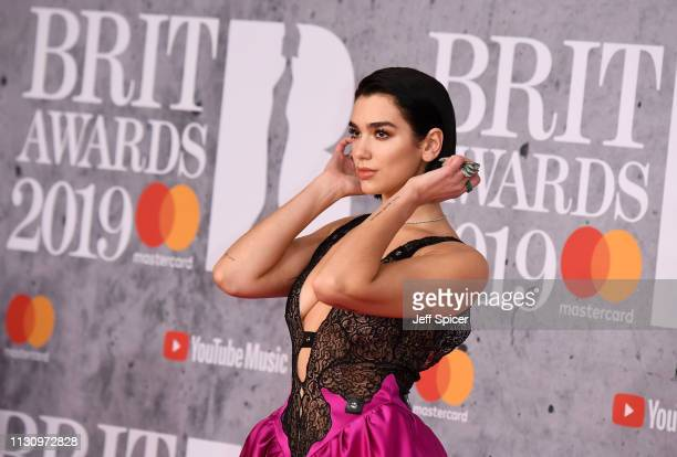 Dua Lipa attends The BRIT Awards 2019 held at The O2 Arena on February 20 2019 in London England