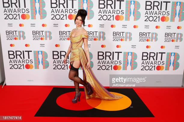 Dua Lipa attends The BRIT Awards 2021 at The O2 Arena on May 11, 2021 in London, England.