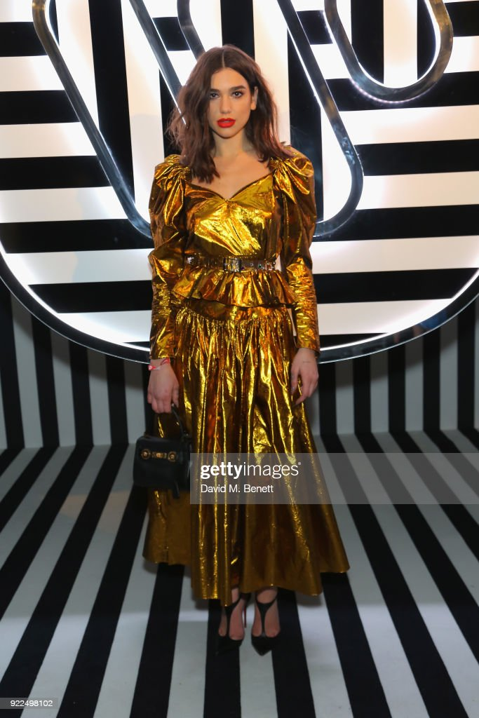 Dua Lipa attends the Brits Awards 2018 After Party hosted by Warner Music Group, Ciroc and British GQ at Freemasons Hall on February 21, 2018 in London, England.