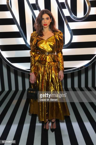 Dua Lipa attends the Brits Awards 2018 After Party hosted by Warner Music Group Ciroc and British GQ at Freemasons Hall on February 21 2018 in London...
