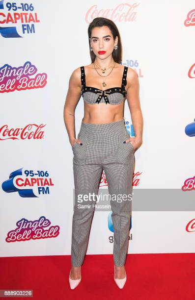 Dua Lipa attends the Capital FM Jingle Bell Ball with CocaCola at The O2 Arena on December 9 2017 in London England
