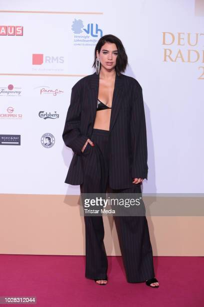 Dua Lipa attends the Deutscher Radiopreis at Schuppen 52 on September 6 2018 in Hamburg Germany