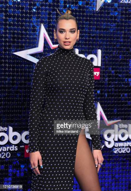 Dua Lipa attends The Global Awards 2020 at Eventim Apollo Hammersmith on March 05 2020 in London England