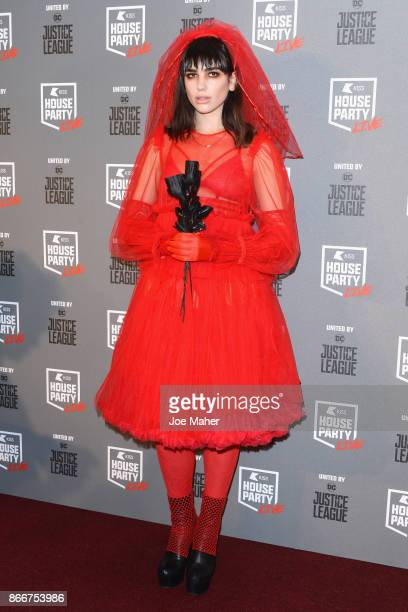 Dua Lipa attends the Kiss Haunted House Party held at SSE Arena on October 26 2017 in London England