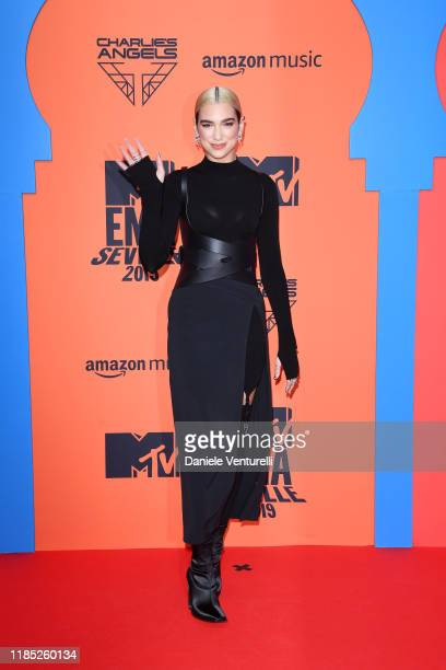 Dua Lipa attends the MTV EMAs 2019 at FIBES Conference and Exhibition Centre on November 03 2019 in Seville Spain