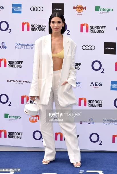 Dua Lipa attends the Nordoff Robbins O2 Silver Clef Awards 2019 at the Grosvenor House on July 05 2019 in London England
