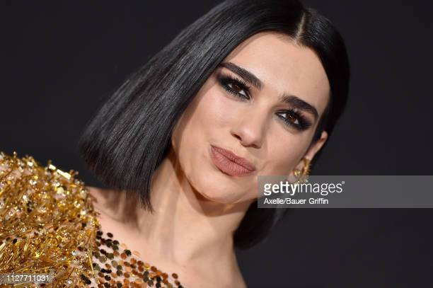 Dua Lipa attends the premiere of 20th Century Fox's 'Alita Battle Angel' at Westwood Regency Theater on February 05 2019 in Los Angeles California