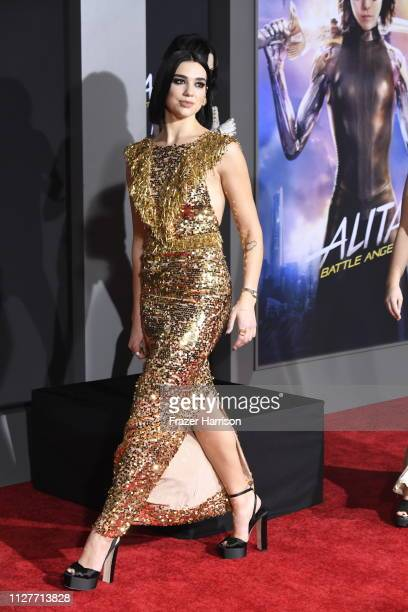Dua Lipa attends the Premiere Of 20th Century Fox's Alita Battle Angel at Westwood Regency Theater on February 05 2019 in Los Angeles California