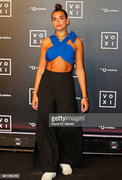 Dua Lipa attends the VOXI launch party at Brick Lane Yard on August 31 2017 in London England