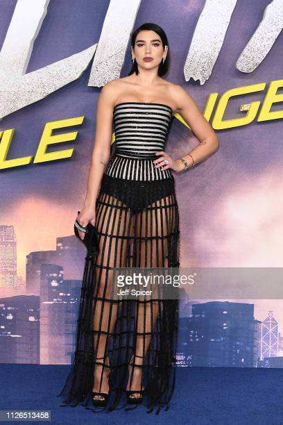 Dua Lipa attends the World Premiere of Alita Battle Angel held at Odeon Leicester Square on January 31 2019 in London England