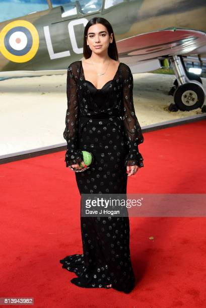 Dua Lipa attends the world premiere of 'Dunkirk' at Odeon Leicester Square on July 13 2017 in London England