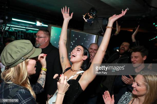 Dua Lipa backstage during the 61st Annual GRAMMY Awards at Staples Center on February 10 2019 in Los Angeles California