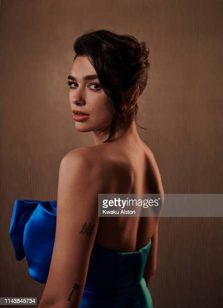 Dua Lipa is photographed for The Hollywood Reporter on February 9 2019 at the Clive Davis' Grammy Party at the Beverly Hilton in Beverly Hills...