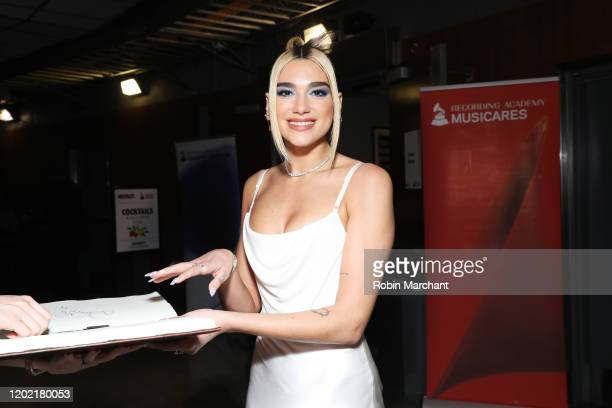 Dua Lipa is seen at the GRAMMY Charities Signings during the 62nd Annual GRAMMY Awards at STAPLES Center on January 26 2020 in Los Angeles California