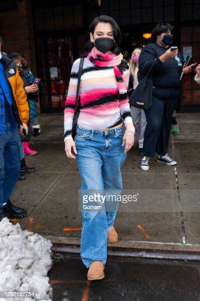 Dua Lipa is seen in the East Village on December 19, 2020 in New York City.