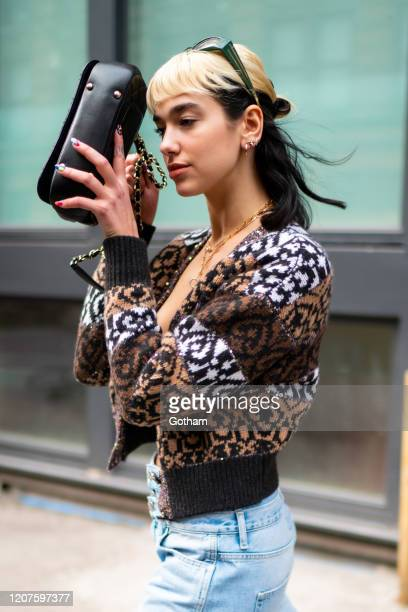 Dua Lipa is seen in the East Village on February 20 2020 in New York City