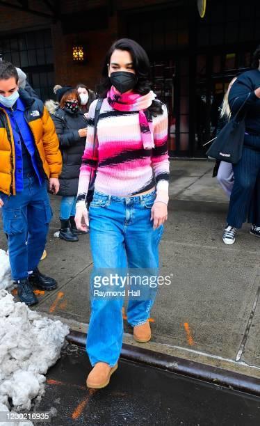 Dua Lipa is seen on December 19, 2020 in New York City.