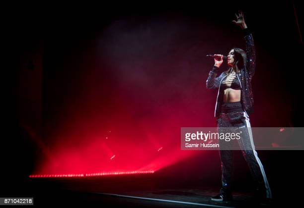 Dua Lipa performs at O2 Academy Brixton on November 6 2017 in London England