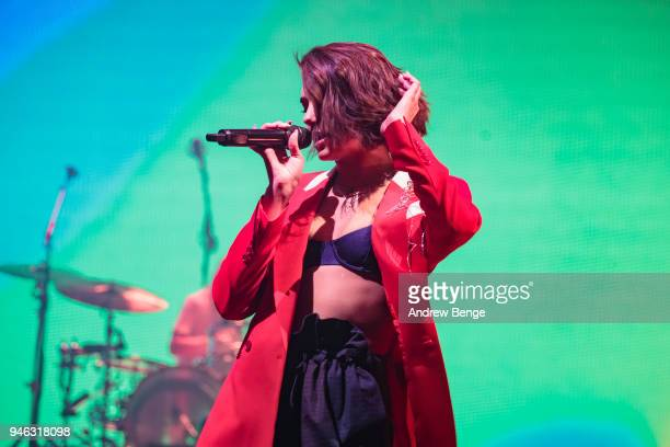Dua Lipa performs at O2 Apollo Manchester on April 14, 2018 in Manchester, England.