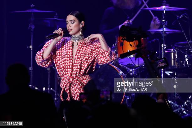 Dua Lipa performs at the amfAR Cannes Gala 2019 at Hotel du CapEdenRoc on May 23 2019 in Cap d'Antibes France