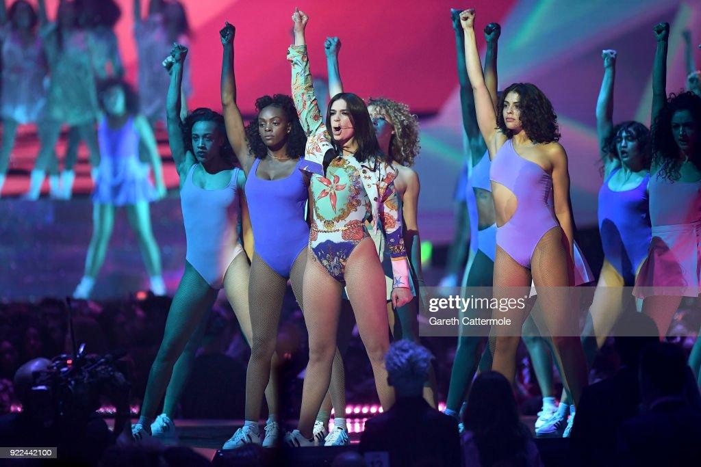 The BRIT Awards 2018 - Show : Fotografía de noticias