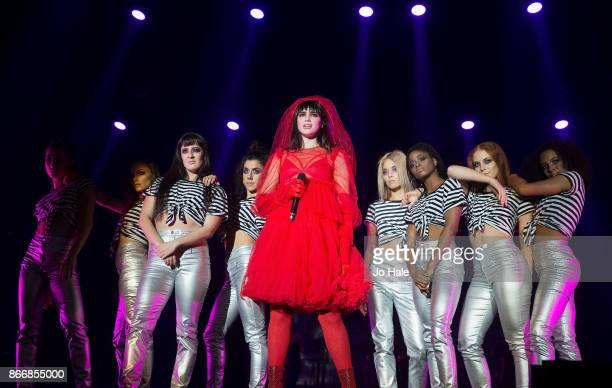 Dua Lipa performs at the Kiss Haunted House Party held at SSE Arena on October 26 2017 in London England
