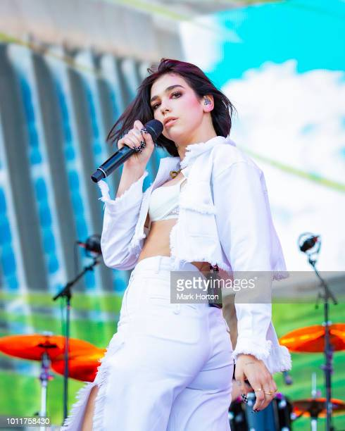 Dua Lipa performs at the Osheaga Music and Art Festival at Parc JeanDrapeau on August 5 2018 in Montreal Canada
