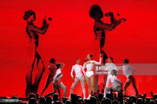 Dua Lipa performs during the 33rd Annual ARIA Awards 2019 at The Star on November 27 2019 in Sydney Australia