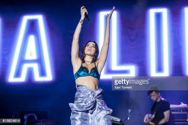 Dua Lipa performs in concert during day 4 of Festival Internacional de Benicassim on July 16 2017 in Benicassim Spain