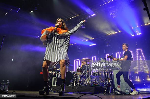 Dua Lipa performs live at Flow Festival on August 14 2016 in Helsinki Finland