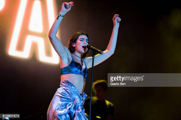 Dua Lipa performs live on Day 4 of FIB Festival on July 16 2017 in Benicassim Spain