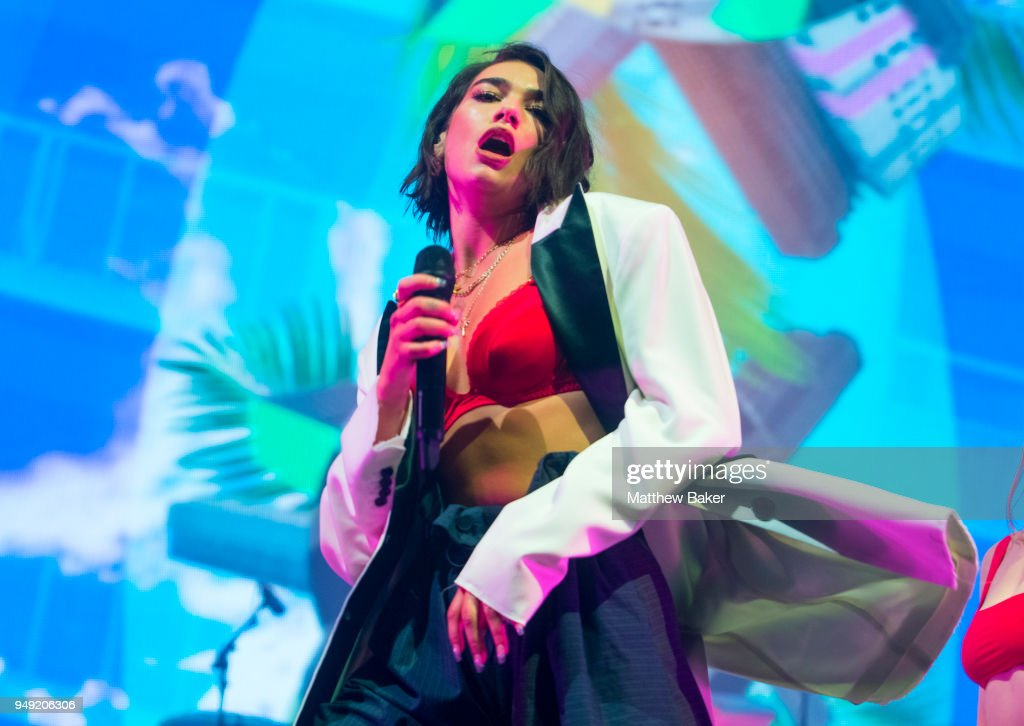 Dua Lipa Performs At Alexandra Palace In London : News Photo