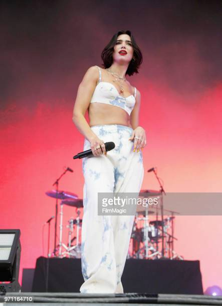 Dua Lipa performs on What Stage during day 4 of the 2018 Bonnaroo Arts And Music Festival on June 10 2018 in Manchester Tennessee