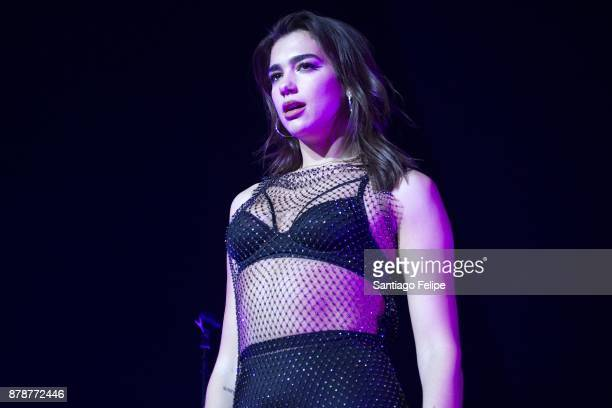 Dua Lipa performs onstage at Hammerstein Ballroom on November 24 2017 in New York City