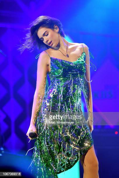 Dua Lipa performs onstage during 1027 KIIS FM's Jingle Ball 2018 Presented by Capital One at The Forum on November 30 2018 in Inglewood California