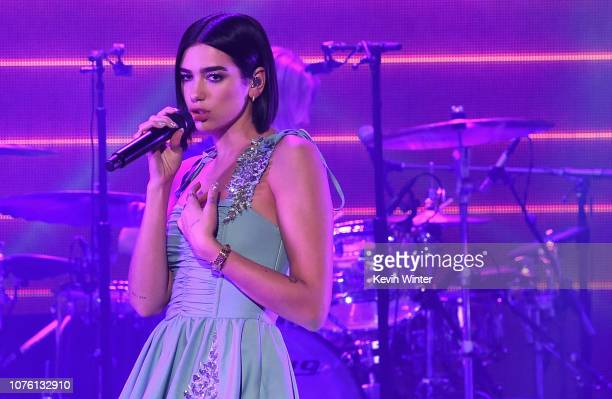 Dua Lipa performs onstage during Dick Clark's New Year's Rockin' Eve With Ryan Seacrest 2019 on December 31 2018 in Los Angeles California