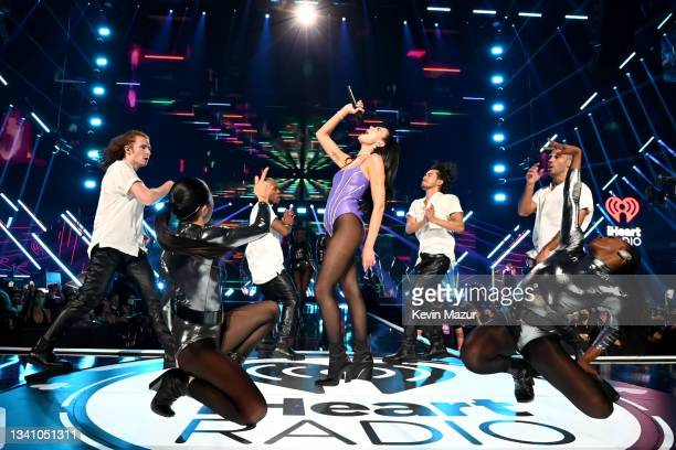 Dua Lipa performs onstage during the 2021 iHeartRadio Music Festival on September 17, 2021 at T-Mobile Arena in Las Vegas, Nevada. EDITORIAL USE ONLY