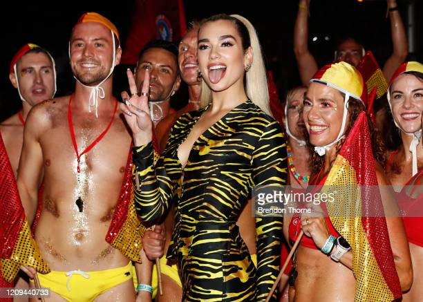 Dua Lipa poses for a photo during the 2020 Sydney Gay Lesbian Mardi Gras Parade on February 29 2020 in Sydney Australia The Sydney Mardi Gras parade...