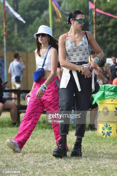 Dua Lipa seen at Glastonbury Festival 2019 on June 29 2019 in Glastonbury England
