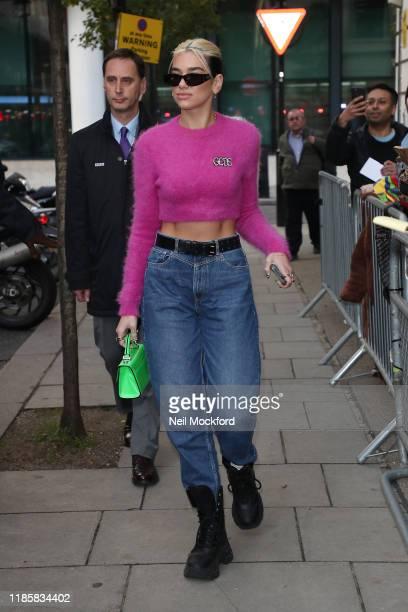 Dua Lipa seen leaving BBC Radio 2 on November 06 2019 in London England