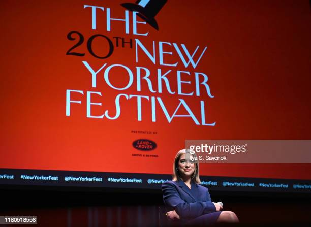 Dua Lipa speaks onstage during a talk with Amanda Petrusich at the 2019 New Yorker Festival on October 11, 2019 in New York City.